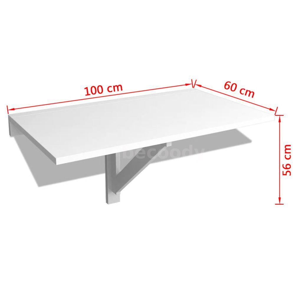 Table Rabattable Pour Cuisine détails sur murale rabattable table blanc table de cuisine table pour pc  100 x 60 cm